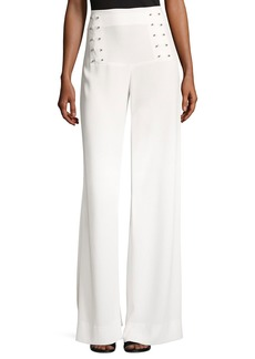Derek Lam 10 Crosby Sailor Barbell Wide-Leg Pants