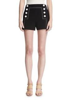 Derek Lam 10 Crosby Sailor Mid-Rise Button Shorts