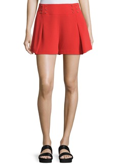 Derek Lam 10 Crosby Sailor Mid-Rise Shorts W/ Beaded Trim