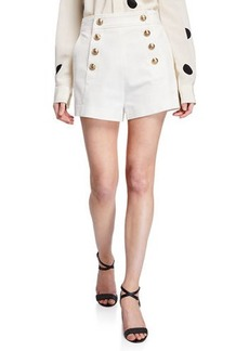 Derek Lam 10 Crosby Sailor Shorts with Button Details