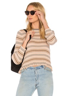 Derek Lam Sheer Striped Crewneck Sweater