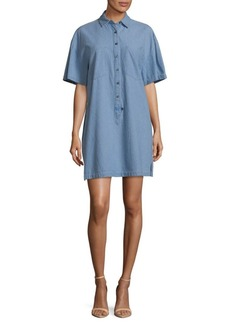 Derek Lam Short-Sleeve Cotton Shirtdress