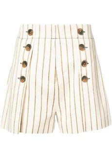 Derek Lam 10 Crosby Short With Button Detail - Nude & Neutrals
