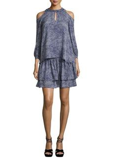 Derek Lam 10 Crosby Silk 2-in-1 Abstract-Print Dress