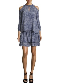 Derek Lam 10 Crosby Silk 2-in-1 Abstract-Print Dress