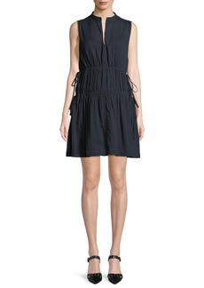 Derek Lam 10 Crosby Sleeveless Cotton Dress w/ Tie Detail