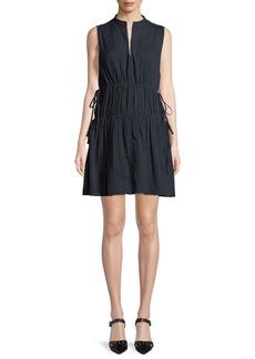 Derek Lam 10 Crosby Sleeveless Cotton Dress w/ Tie Detail