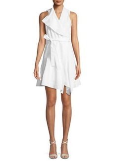 Derek Lam Sleeveless Cotton Wrap Dress
