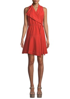 Derek Lam 10 Crosby Sleeveless Cotton Wrap Dress