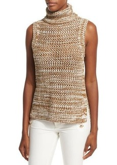 Derek Lam 10 Crosby Sleeveless Crochet Turtleneck Top