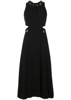 Derek Lam 10 Crosby Sleeveless Dress With Grommet And Lacing Detail -