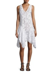 Derek Lam 10 Crosby Sleeveless Embroidered Asymmetric Dress