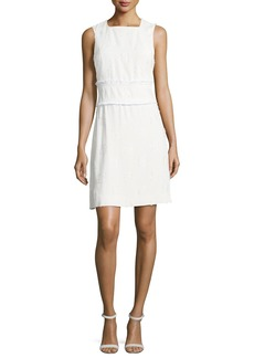 Derek Lam 10 Crosby Sleeveless High-Neck Sheath Dress w/ Fringed Trim