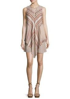 Derek Lam 10 Crosby Sleeveless Mitered Multipattern Dress