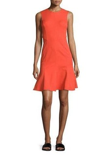 Derek Lam 10 Crosby Sleeveless Paneled Fit-and-Flare Dress