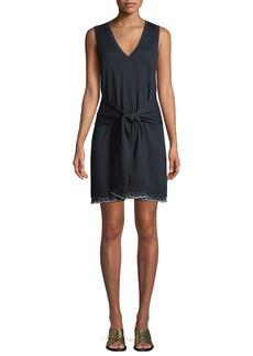 Derek Lam 10 Crosby Sleeveless Tie-Waist Knit Mini Dress