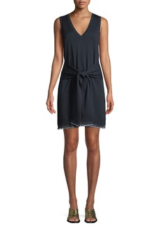 Derek Lam 10 Crosby Sleeveless Tie-Waist Knit Mini Dress
