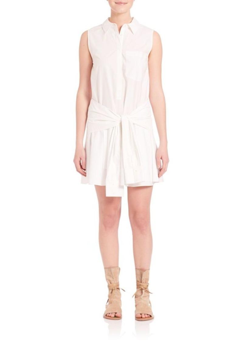 Derek Lam 10 Crosby Sleeveless Tie Waist Shirt Dress