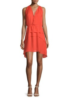 Derek Lam 10 Crosby Sleeveless Tiered Silk Dress