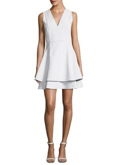 Derek Lam 10 Crosby Sleeveless V-Neck Fit Flare Mini Dress
