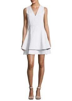 Derek Lam 10 Crosby Sleeveless V-Neck Fit Flare Mini Dress