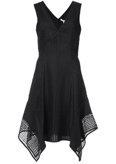 Derek Lam 10 Crosby Sleeveless V-Neck Pieced Lace Dress - Black