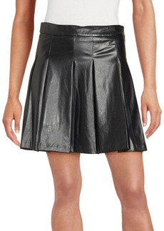 Derek Lam Solid Pleated Skirt