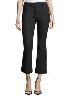 Derek Lam 10 Crosby Stretch-Cotton Cropped Flare Trousers