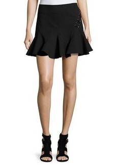 Derek Lam 10 Crosby Stretch Jersey Fit-and-Flare Mini Skirt