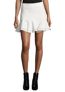 Derek Lam 10 Crosby Stretch Twill Eyelet Skirt