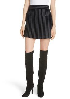 Derek Lam 10 Crosby Stripe Cotton Blend Miniskirt