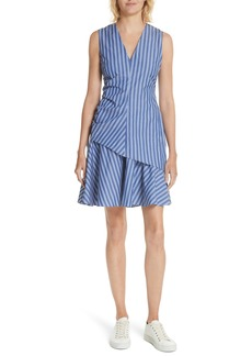 Derek Lam 10 Crosby Stripe Ruched Sheath Dress