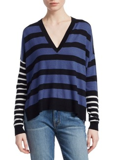 Derek Lam Stripe V-Neck Sweater