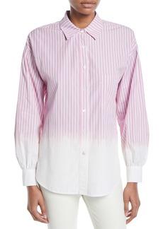 Derek Lam 10 Crosby Striped Ombre Button-Down Shirt