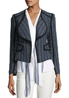 Derek Lam 10 Crosby Striped Open-Front Cardigan Jacket