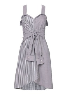 Derek Lam 10 Crosby Striped Tie-Front Mini Dress