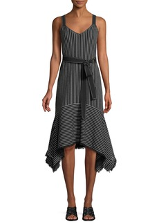 Derek Lam Striped V-Neck Cami Dress