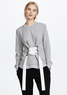 Derek Lam 10 Crosby Sweatshirt with Lacing Detail