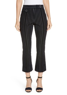 Derek Lam 10 Crosby Tab Detail Crop Flare Trousers