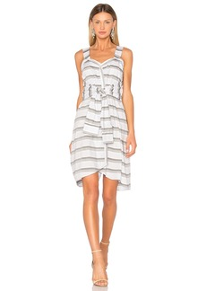 Derek Lam Tie Front Stripe Dress