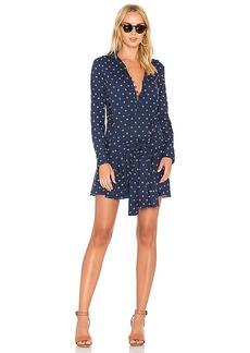 DEREK LAM 10 CROSBY Tie Waist Shirt Dress in Blue. - size 0 (also in 2,6)