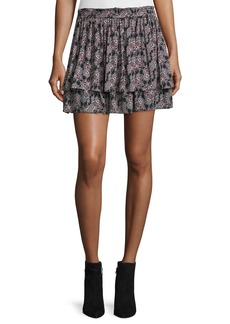 Derek Lam 10 Crosby Tiered Floral Silk Skirt