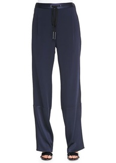 Derek Lam 10 Crosby Track Pants with Drawstring