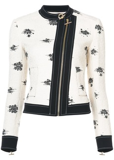 Derek Lam 10 Crosby Tweed Moto Jacket - White