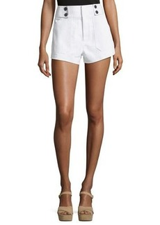 Derek Lam 10 Crosby Utility Shorts with Button Detail
