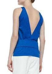 Derek Lam 10 Crosby V-Back Belted Knit Top