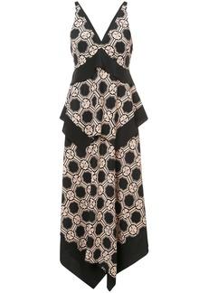 Derek Lam 10 Crosby V-Neck Tiered Maxi Dress - Black