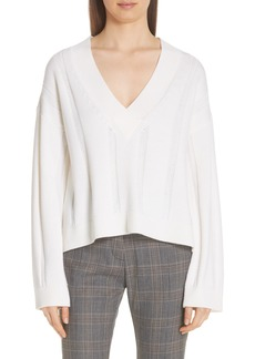Derek Lam 10 Crosby V-Neck Wool Sweater