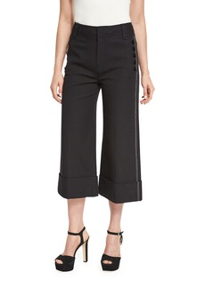 Derek Lam 10 Crosby Wide-Cuff Cotton-Blend Culottes