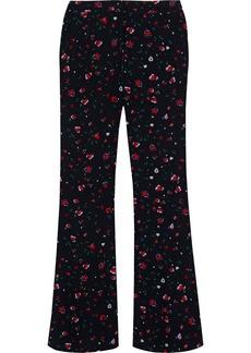 Derek Lam 10 Crosby Woman Printed Crepe De Chine Flared Pants Black